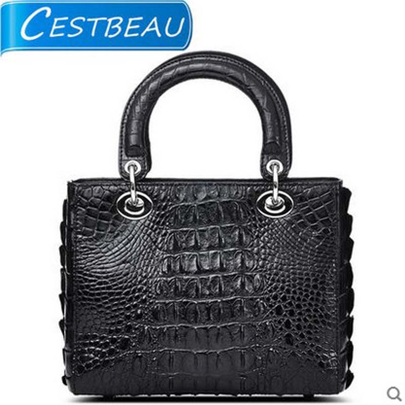Cestbeau New Thai Crocodile Lady Bag Women Crocodile Leather Handbag  Banquet Slanted Handbag Luxury Bridal Bag