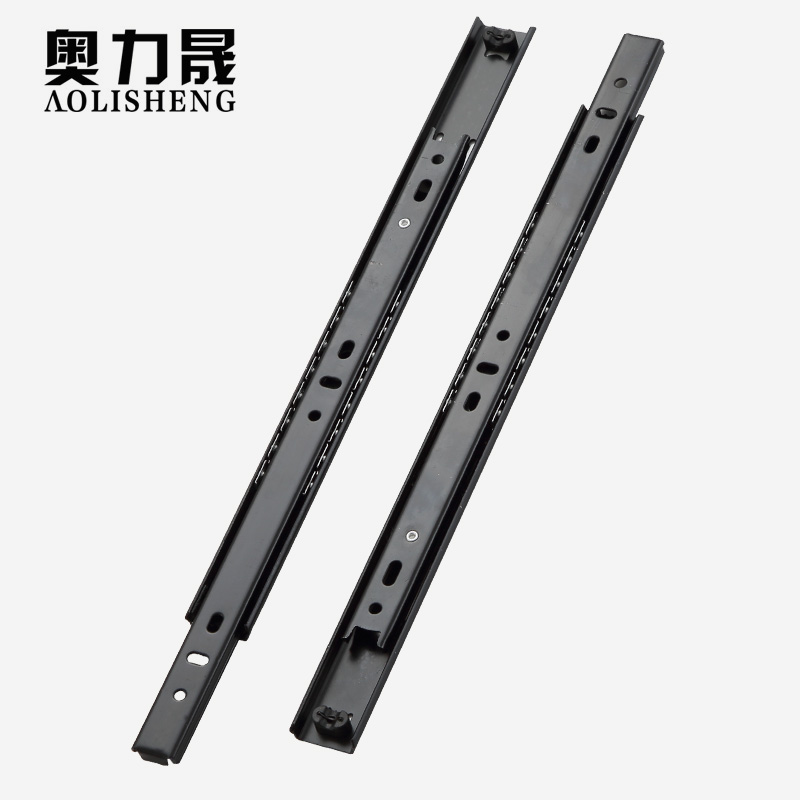Free Shipping 27mm Width Two Sections Ball Bearing Telescopic Furniture  keyboard tray  Drawer Slides Rail-in Slides from Home Improvement