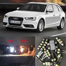 Белый Автомобильный светодиодный светильник Canbus, лампочка, внутренний комплект для 2009-2013 Audi A4 B8 Avant, купольная дверь, номерной знак, лампа, заменяемая галогеном