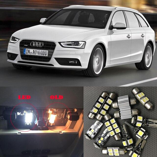 White Canbus Car Led Light Bulbs Interior Kit For 2009 2013 Audi A4