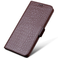 New Luxury Huawei Honor Note 10 Genuine Crocodile Leather Phone Cases New Fashion Phone Bags For Note 10 Huawei Flip case