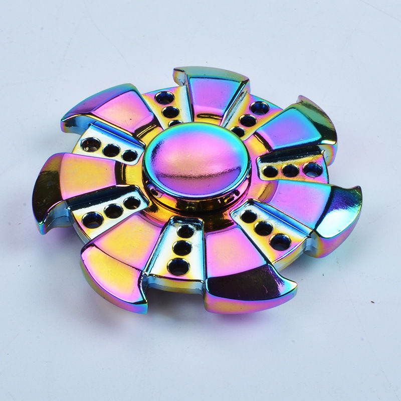 Hot EDC Fidget Hand Spinner Multicolor Torqbar Focus ADHD Autism Finger Toy Gyro New Adults Kid