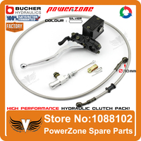 Modify Left Hydraulic Clutch System With Master Cylinder Pump 1200mm Hose Pipe Super Moto Motorcycle Motorcross