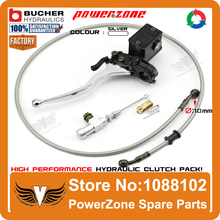 Modify Left Hydraulic Clutch System With Master Cylinder Pump + 1200mm Hose Pipe Super Moto Motorcycle Motorcross  Free Shipping
