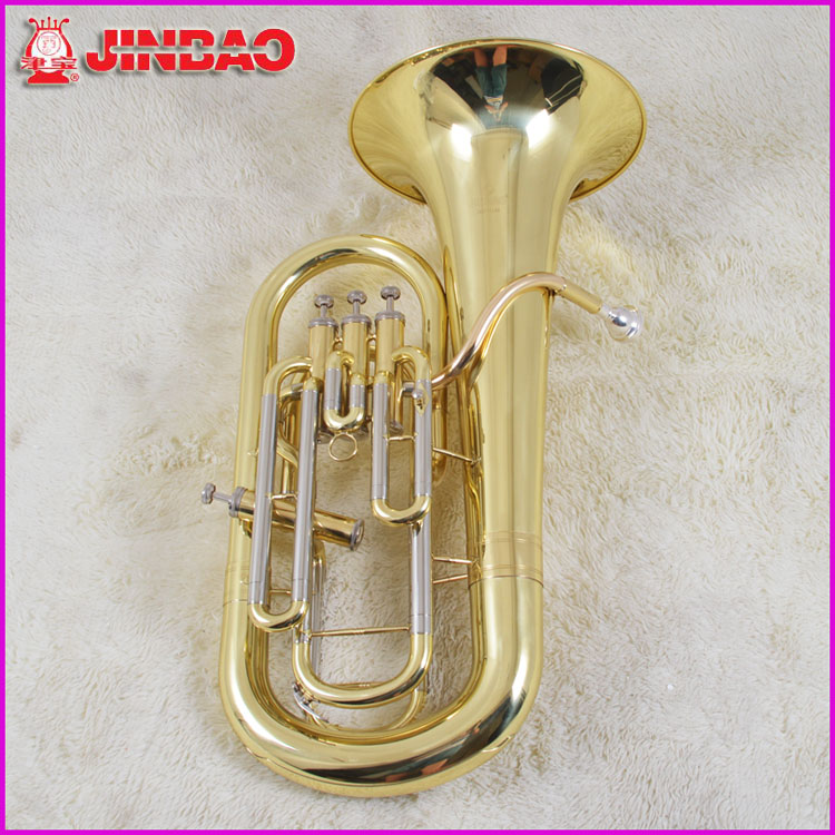 Original JinBao Genuine JBEP-1142 Professional Four-key Euphonium Instrument Bb Piston Compensation Tone Gold Lacquer 2 pieces festo cylinder valve for pm74 sm74 heidelberg 61 184 1131