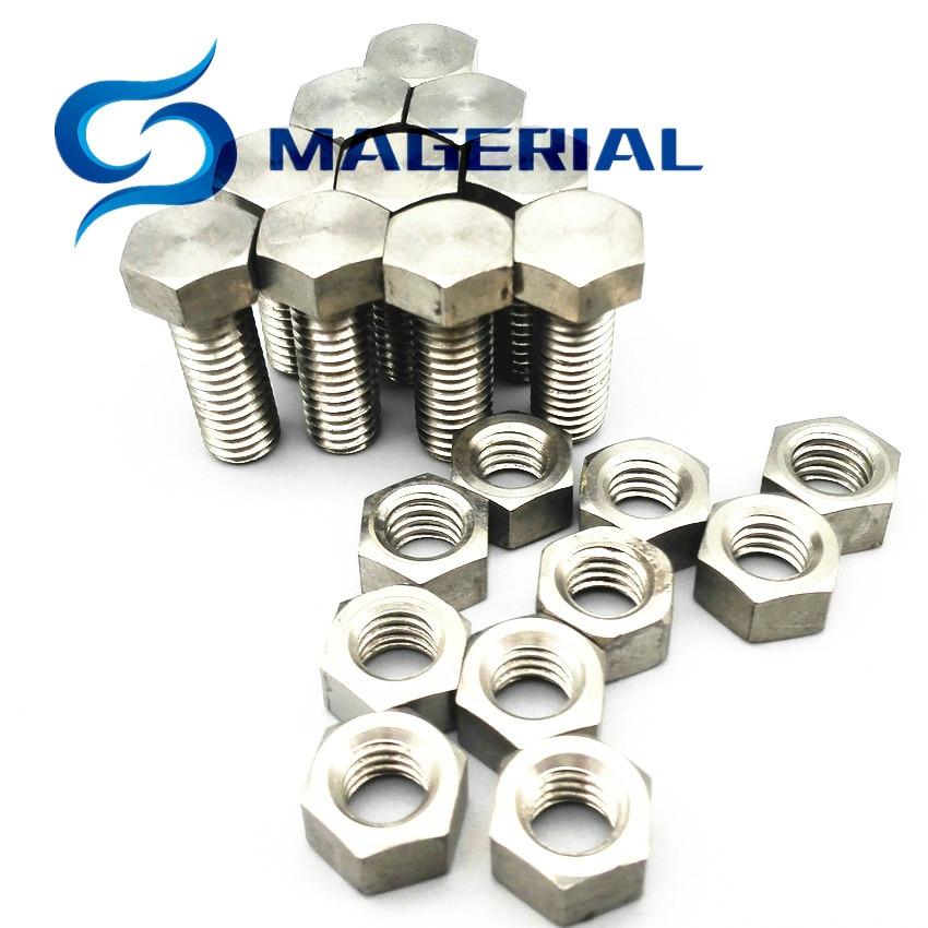 US $19 98 |3/8 16*25 Hexagon Head Titanium Bolts with Matching Nut 3/8