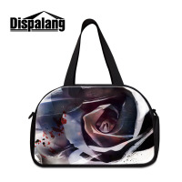 Dispalang Luggage Bag Rose Print Large Capacity Girls Travel Bags Women Weekend Travel Duffle Tote Bags Crossbody Travel Bags