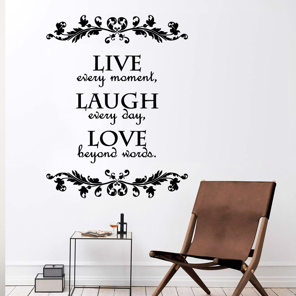 Cartoon live Phrase Removable Art Vinyl Wall Stickers Mural Wallpaper Decal