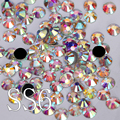 ss6(1.9-2mm) 1440pcs Crystal Clear White AB DMC Hotfix Rhinestone Flat back Iron On Hot Fix Strass For Transfer Designs Y2887