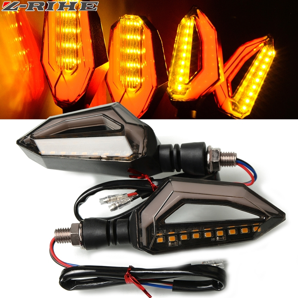 LED Turn Signal Light Indicator Lamp For KAWASAKI ZXR250 ZXR400 ZXR750 ZXR KLE 250/400/500 ZRX1200R ZRX1200S Motorcycle Z900 650 image