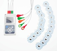 CONTEC Brand Three Channels ECG Holter Patient Monito ECG/EKG Holter Monitoring System TLC9803, 5 Leads ECG holter ECG monitor