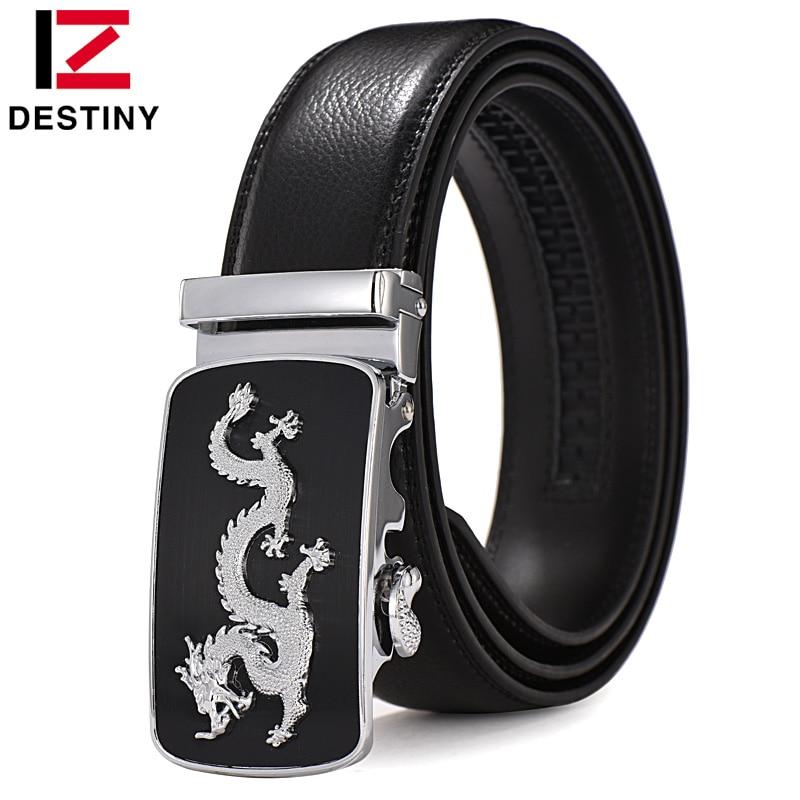DESTINO Más Nuevo Cinturón de Dragón Hombres de Lujo Famosa Marca Cinturón Correa Masculina de Alta Calidad Cinturones de Cuero Para Hombres Hebilla Automática