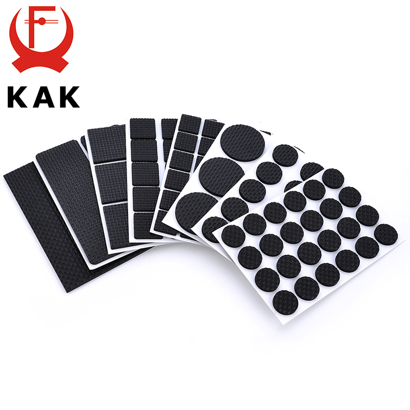 KAK 100 Sets Self Adhesive Furniture Leg Feet Pads Anti-Slip Mat Wholesale Discount Bumper Damper For Chair Table Protector