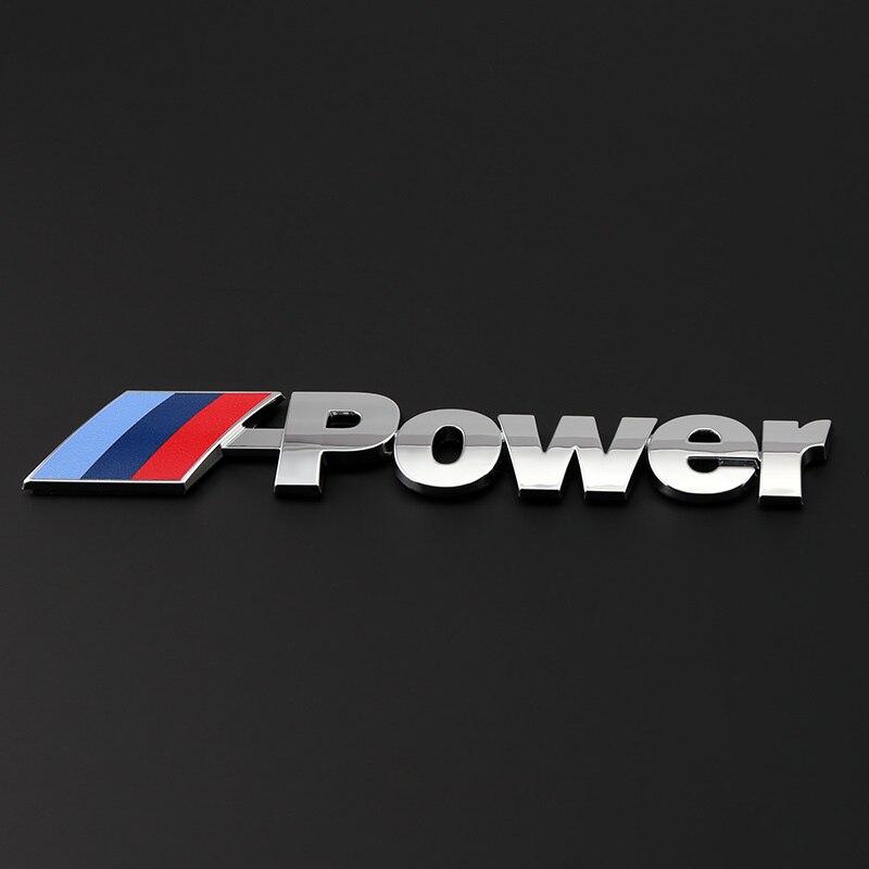 10 unids/lote 135 * 28 mm ETIE nuevo diseño M Power Logo emblema Racing Car ABS