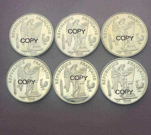 Франция 50 франков 1904 1887 1896 1878 1900 6 шт упаковка продажа латунные металлические копии монет