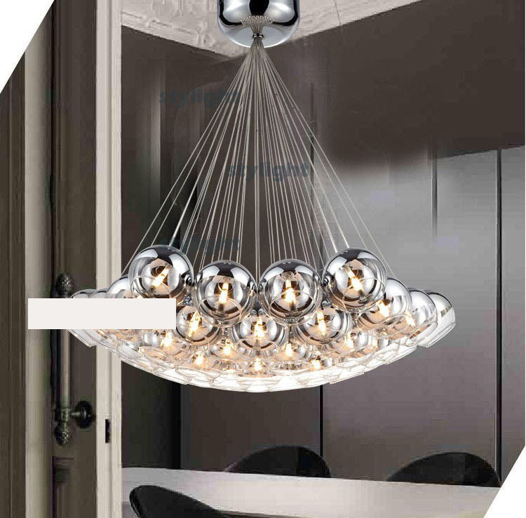 Hanging Chandelier Cluster Lights Modern Crystal Ball Lamp