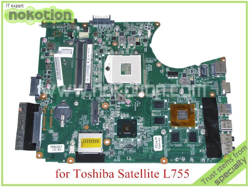 DABLBDMB8E0 A000080820 For toshiba satellite L750 L755 Motherboard HM65 DDR3 Nvidia GeForce GT525M graphics