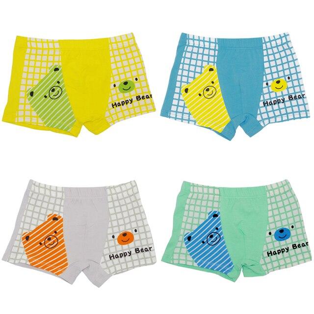 7ff62c98efb6 4Pcs/Lot Cartoon Bear Children Underwear 100%Cotton Baby Boys Girls  Underclothes Boy Girl Boxer Short Pants Kids Panty 1-16Y