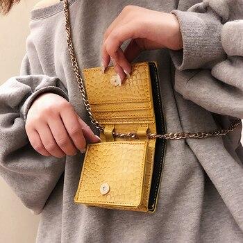 Mini torebki damskie projektant łańcucha Alligator torba na ramię luksusowe monety torebka kobiety torby torebka damska Crossbody 445