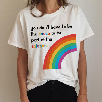Lgbt T Shirt Women Gay Pride Shirt Lesbian Rainbow T-shirt Harajuku Ullzang Funny Tshirt 90s Graphic Love Is Love Top Tee Female 19