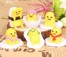 6pcs/set Anime Figure Cute Gudetama Juguetes Lazy Egg Gudetama Brinquedos PVC Action Figure Model Doll Kids Toys Gift