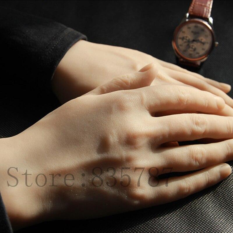 Mains masculines en Silicone solide, vraie peau de poupée de sexe, mains réalistes de Mannequin, affichage d'anneau, exposition de modèle de mains d'homme