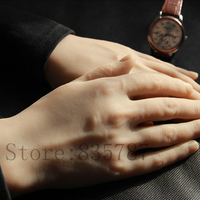 Solid Silicone Male Hands,Sex Doll Real Skin,Realistic Mannequin Hands,Ring Display, Man Hands Model Show