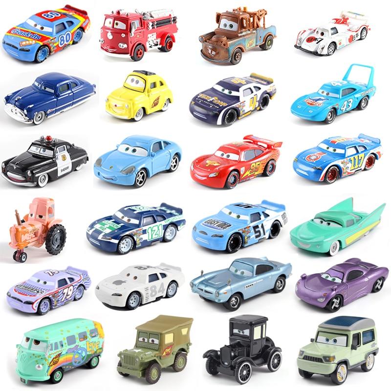 22 Models Disney Pixar Car 3 Car Family Whirlwind McQueen Mater Jackson Storm Ramirez 1:55 Die-cast Metal Alloy Model Toy Car 2
