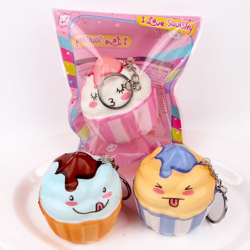 40pcs rare squishy ice cream Wholesale Squishies sheep Slow Rising phone chams Toys Soft pu toy