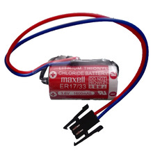 2pcs/lot NEW Maxell ER17/33 ER 17/33 3.6V 1600mah PLC industrial control lithium battery with plug