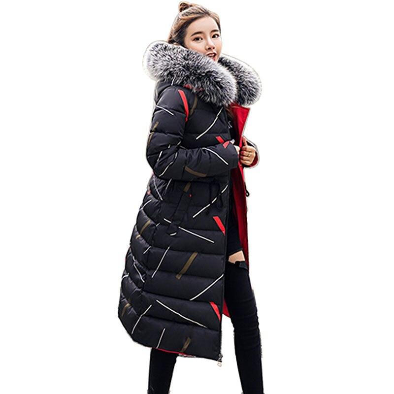 Double sided Coats Large Fur Winter Jacket Women Warm Thicken Hood Winter Coat Women Cotton Down   Parka   Plus Size Female Outwear