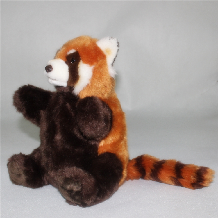Cute Simulation Red Panda  Plush Doll Toys  Appease  Baby Puppets Toy