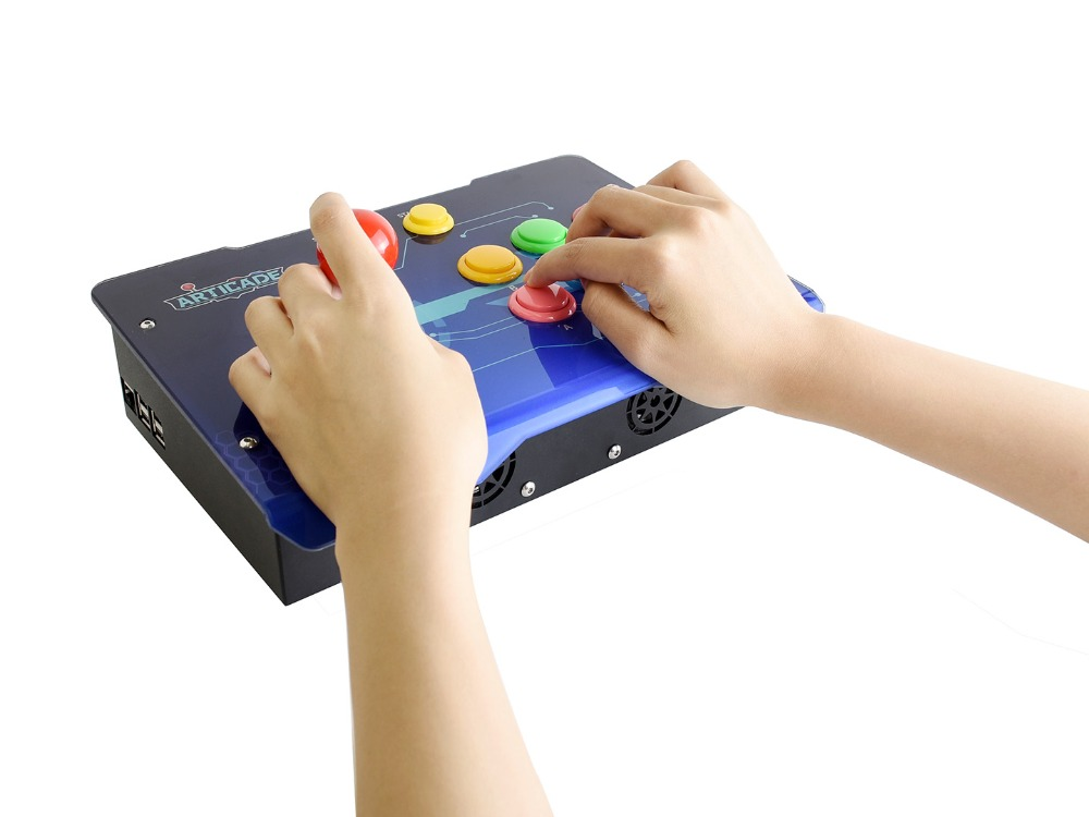 Waveshare Arcade-C-1P Arcade Console Raspberry Pi 3B+ controller Supports  RetroPie KODI HDMI / USB / Ethernet 1080P Resolution