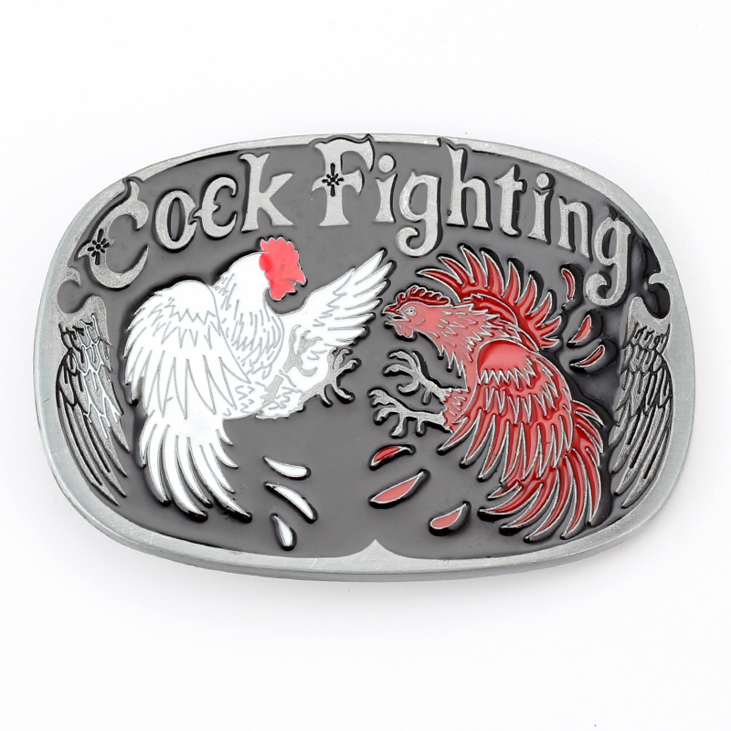 Animal Cock Fighting Western Cowboy Metal Belt Buckle Belt Accessories