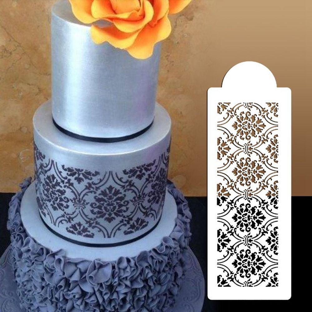 1Pc New Fashion Damask Lace Border Birthday Cake Side
