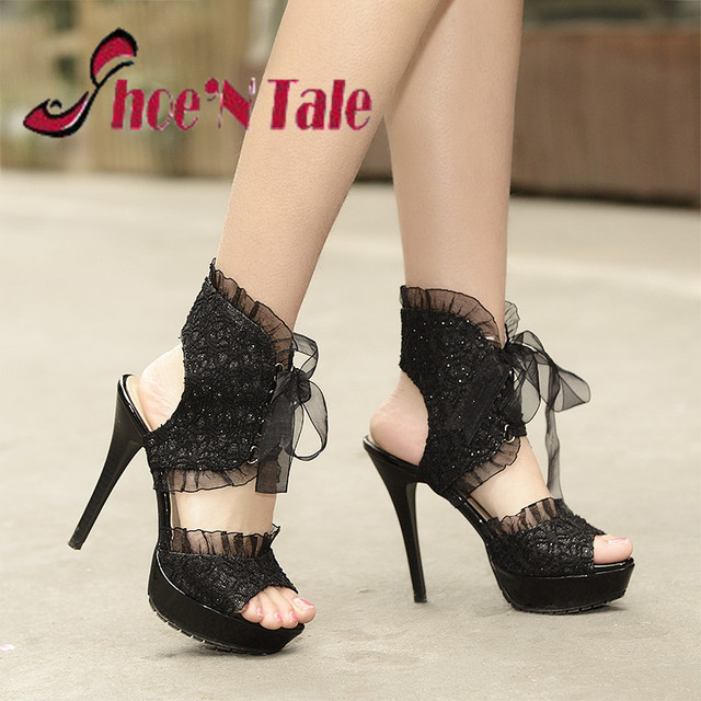 3a616a9ee Shoe N Tale High Heels Shoes Woman 2016 New Summer Fashion Sexy High Heels  Sandals Lace Style Sexy Women Sandals 2016 Hot Sale