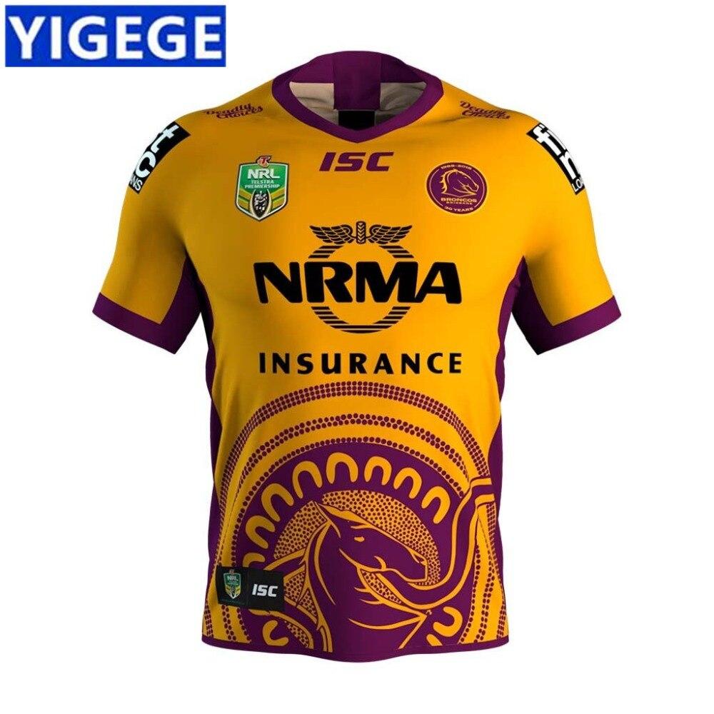 Günstige YIGEGE BRISBANE BRISBANE BRONCOS 2018 INDIGENEN JERSEY 2019 NRL  RUGBY JERSEY NRL Nationalen Rugby Brisbane 3fc84a352