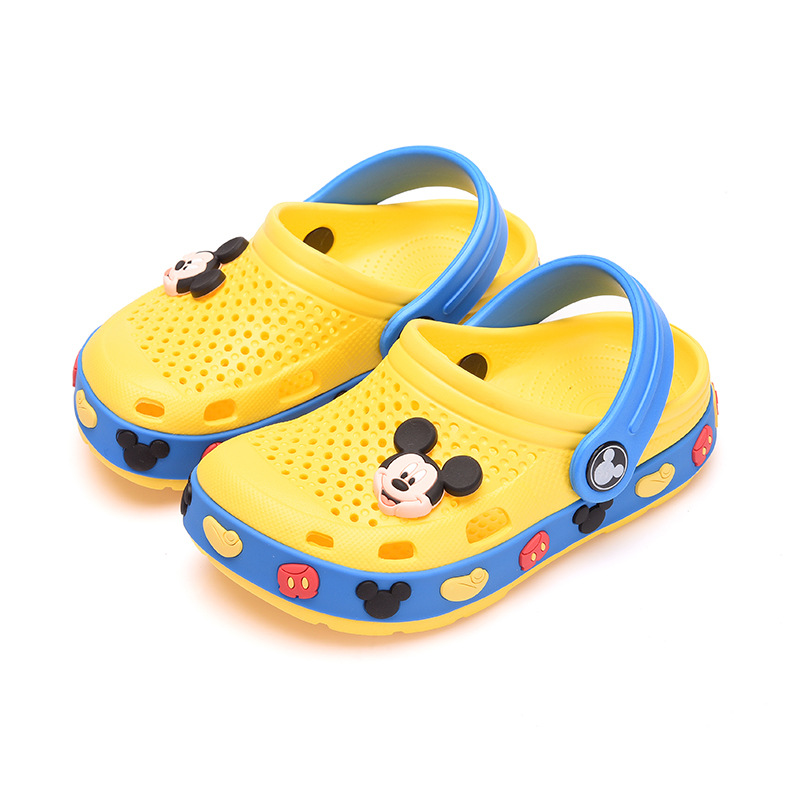Cartoon Cute Mickey Cave Shoes 2019 New Children's Beach Slippers Fashion Cool Dual Use Garden Shoes Light EVA Comfortable|Sandals| |  - title=