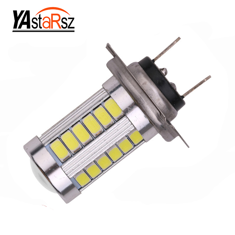 Car led 1X h7 5630 33smd h7 led high power led smd 5630 Car Auto led bulb light 33led 33 smd Super Bright white yellow 12V