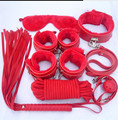 Adult Game 7 Pieces kit Leather Fetish Sex Bondage Restraint Handcuff gag Queen Consume Nipple Clamps Sex Toy for Couples 22