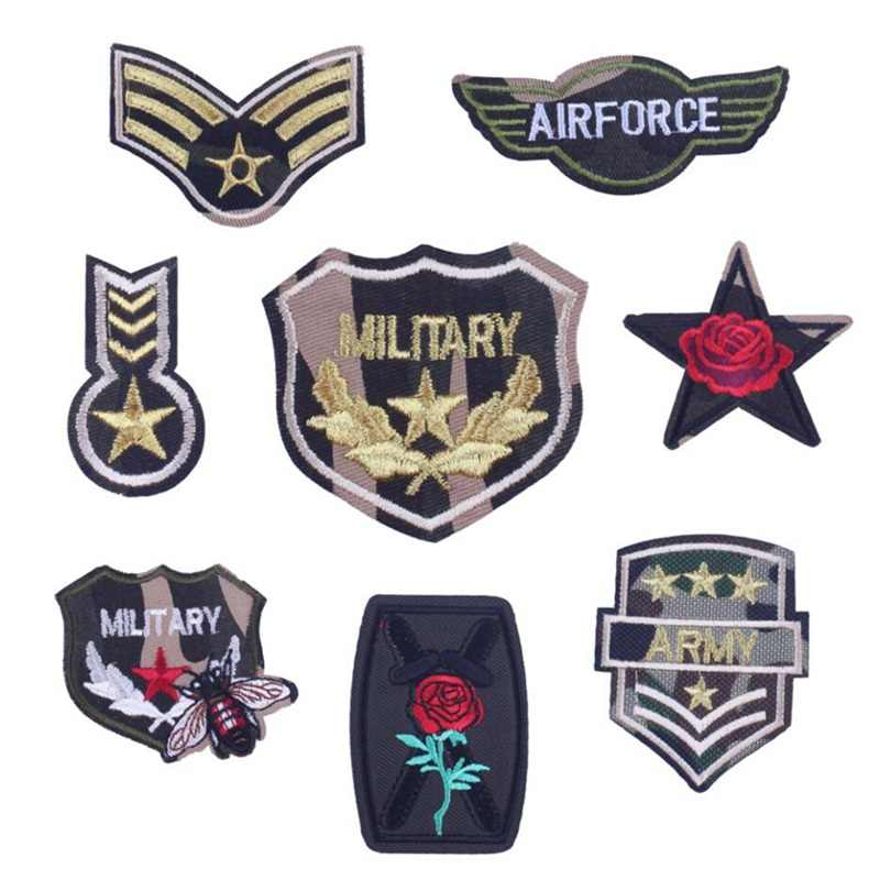 Prajna Army Patches Embroidery Iron On Morale Patches Clothes Stickers Sew On Applique Badges Fabric Stickers Garments Patch