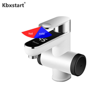 Kbxstart Washroom Calentador EU/UK Plug Electric Instant Water Heater Tap 220V Banheiro Heating Faucet With Temperature Led Show