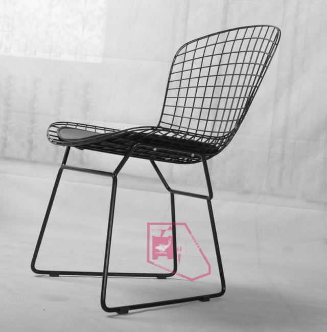 black wire chair dining room covers au modern classic high end fashion bertoia mat paint outdoor leather chairs