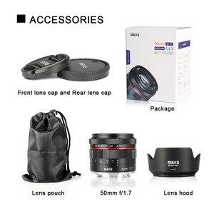 Image 5 - Meike 50 мм F1.7 ручной фокус объектив для Sony alpha E mount A6300 A6000 A6500 NEX3 NEX7 A7 A7II A7III полная Рамка беззеркальная камера