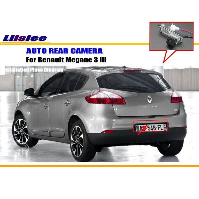 17 31 30 De Reduction Liislee Camera De Voiture Pour Renault Megane 3 Iii 2008 2016 Camera De Recul Hd Ccd Rca Ntst Pal Camera De Plaque