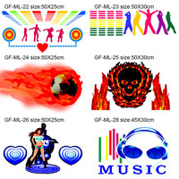 50 25cm 60 30cm 40 30cm Car Music Sticker Rhythm New Led EL Sheet Light Lamp