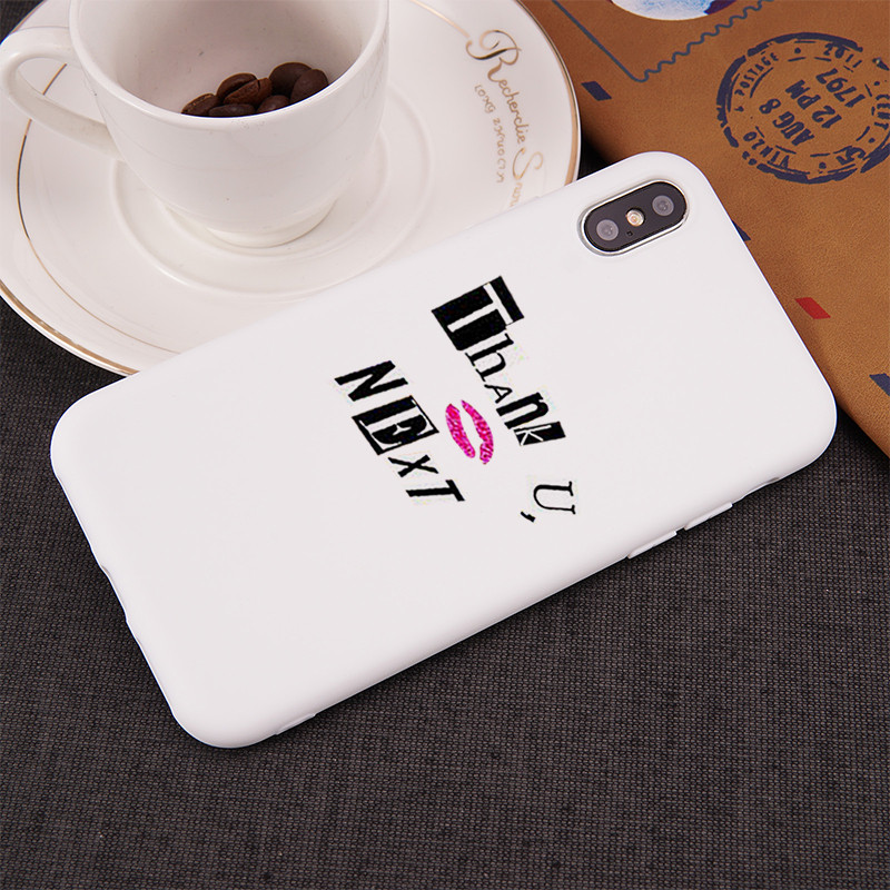 GYKZ Ariana Grande Thank U Next Phone Case For iPhone XS MAX XR X 7 8 6 6s Plus Candy Colors Soft Matte Back Cover Silicone Capa
