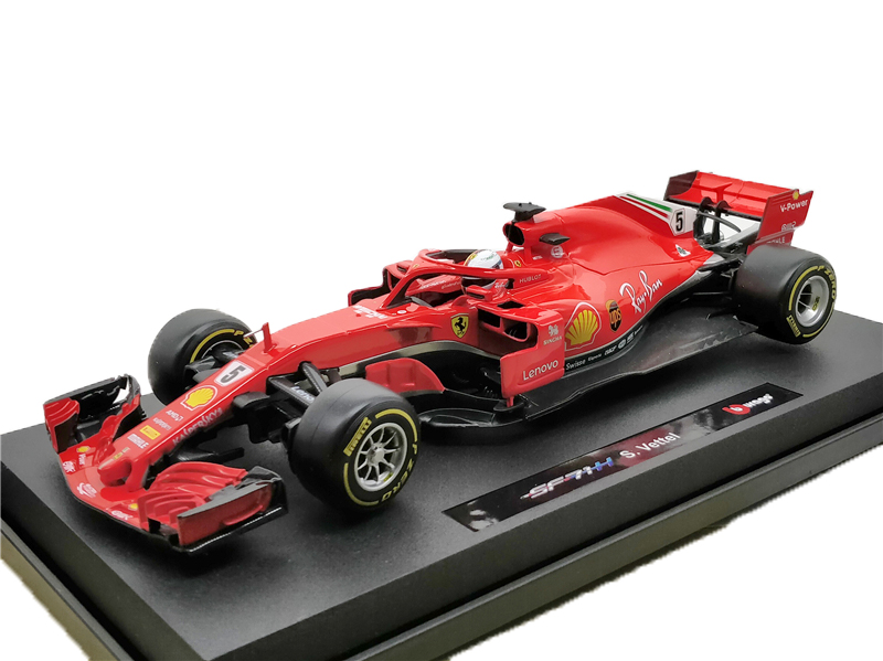 BBurago 1 18 F1 2018 SF71H Diecast Model Car Racing
