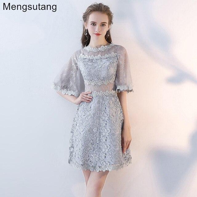 dbc80b533 Vestidos de noite 2019 nova inverno e inverno modas vestidos curtos bolha mangas  prom vestidos de