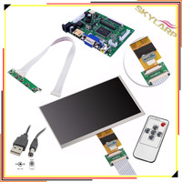 7 Inches High Resolution 1024x600 Screen Display LCD TFT Monitor With Remote Driver Control Board 2AV
